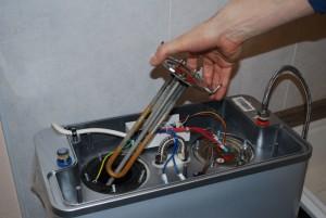 замена тэна в водонагревателе